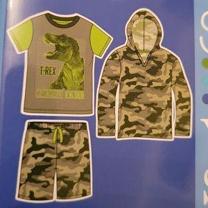 NEW 3 Piece PJ Set 5/6 7/8 10/12 Boy Camo Dinosaur
